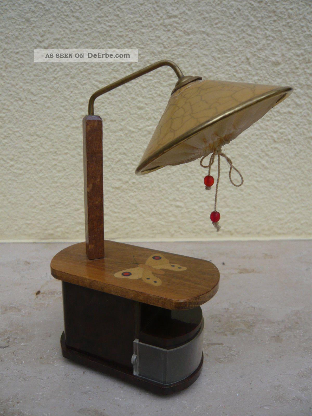 tisch stehlampe mit schmetterling 30er jahre sehr gut erhalten. Black Bedroom Furniture Sets. Home Design Ideas