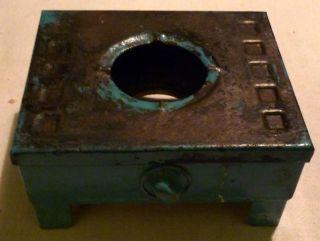 Antiker Puppenherd, Blaue Kochstelle Efco D. G. M. A. , Blech, Für ...