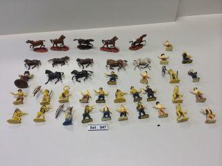 Konvolut 40 Cowboy Und Indianer Figuren H0,  Westernfiguren 1:87,  Wildewesten Bild