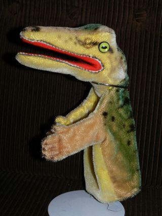 Orginal Steiff Handpuppe Alt Krokodil Aligator Puppentheater Bild