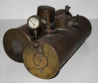 2 Uralte Kessel Für Dampfmaschine / Granathülse Aus Dem 1.  Weltkrieg / Umbau Bild