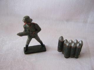 Artillerie / Geschützbedienung Um 1939 Lineol 7,  5 Cm Bild
