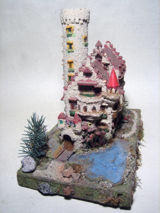 Uraltes Holzmodell Burg,  Ritterburg Mit Turm,  Rs Spitaler Creglinger,  Wera Bild