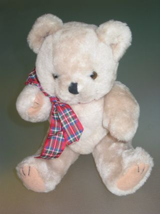 Alter Teddy,  Teddybär,  Helles Fell Mit Hellen Tatzen Und Aufgenähten Krallen Bild
