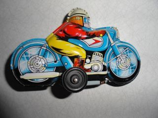 Altes Blech Motorrad. Bild