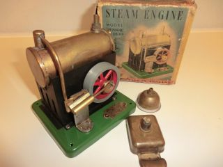 Sel 1530 – Dampfmaschine Steam Engine Model Junior Made In England Ovp Bild