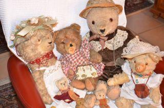 Alte Teddybären (diverse Größen Und Marken) Bild