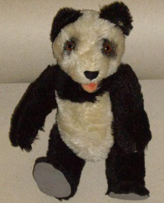 Steiff Panda Bär Ca.  20cm Schwarz Weiss Mit Knopf Bild