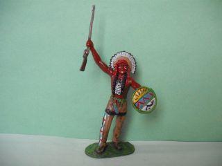 Elastolin Indianer - Umbau,  Büffelkopf,  7 Cm Bild