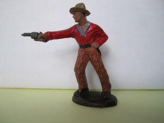 Masse Cowboy Stehend Mit Revolver Von Tipple Topple,  7 Cm. Bild