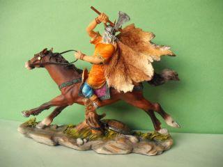 Gallier - Vercingetorix Zu Pferd Mit Axt Resin,  7 Cm Bild