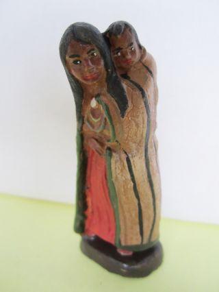 Masse Indianerin Mit Kind Auf Dem Rücken Zu Elastolin,  Lineol,  7 Cm. Bild