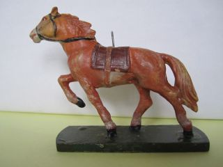 Prächtiges Masse Indianer/cowboy Pferd Zu Elastolin,  Lineol,  7 Cm. Bild