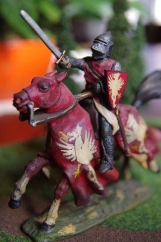 Lineol Germany Ritter Heinrich I Zu Pferd Mit Top - Bemalung 7cm Wie Elastolin Bild