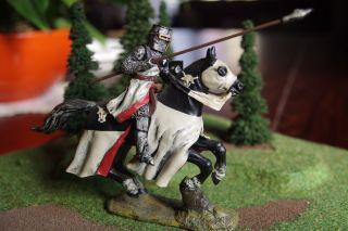 Lineol Germany Bekannter Ritter Auf Pferd Mit 1a - Bemalung 7cm Wie Elastolin Bild