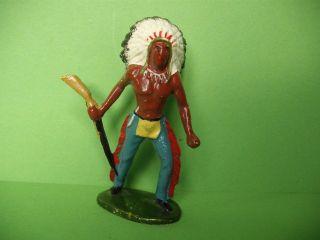 Merten Indianer Nr.  214 Mit Gewehr Zu 6 Cm Bild
