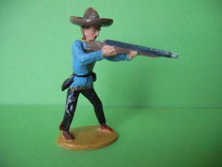 Merten Cowboy Stehend Mit Gewehr,  Blaue Jacke,  Ca.  6 Cm Bild