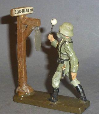 Alter Lineol Soldat Gas Alarm 7cm Serie Bild