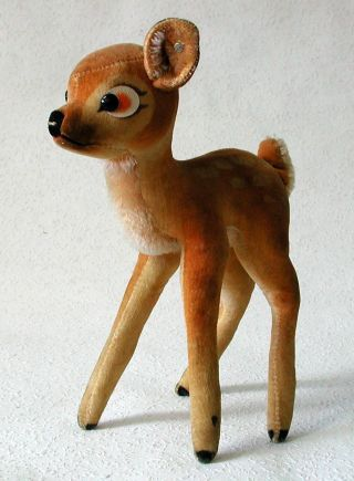 SchÖnes Steiff Bambi Reh K 22 Cm 1959/64 Copyr.  Walt Disney Bild