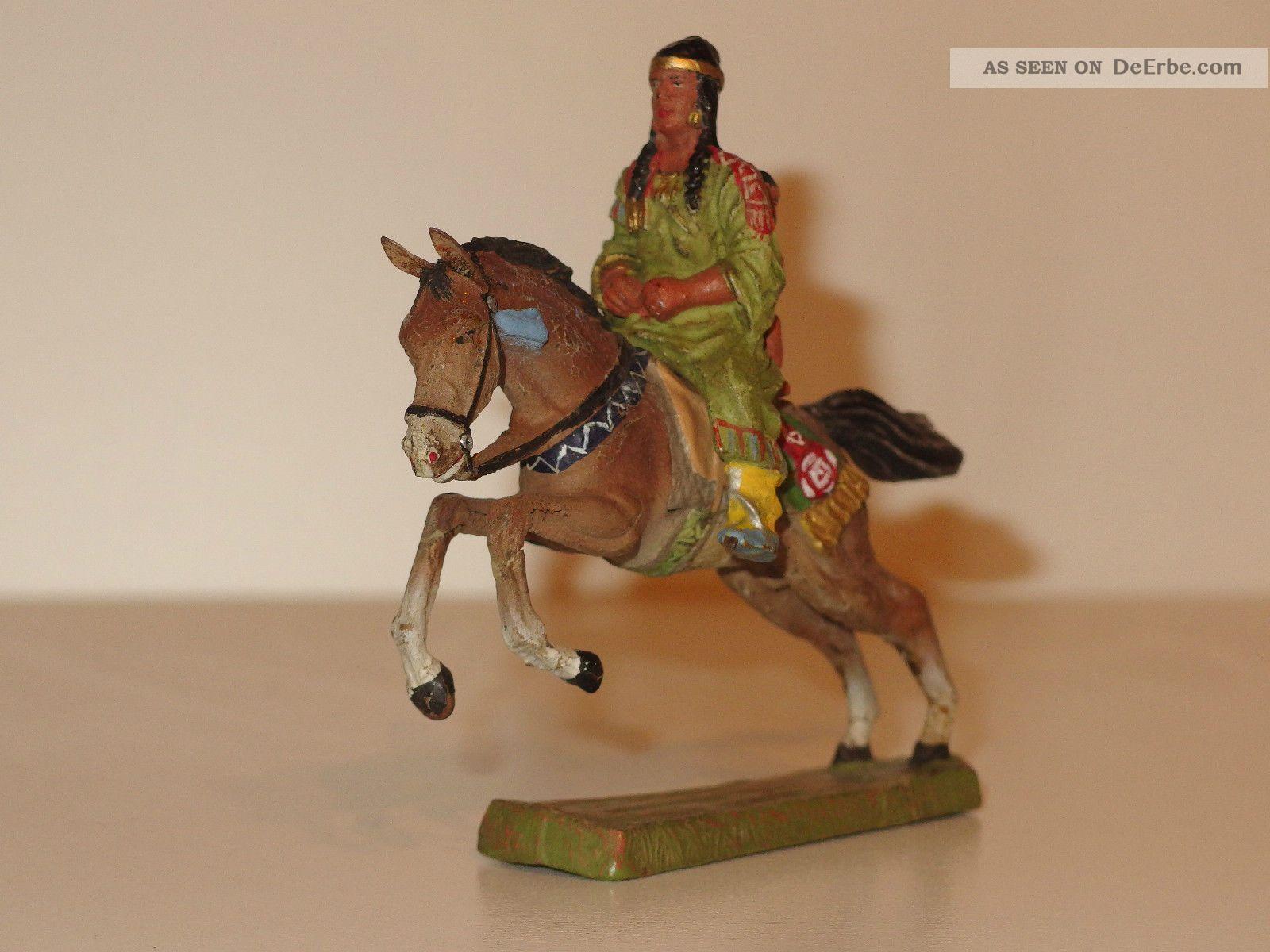indianerin zu pferd mit kind wildwest spielzeug. Black Bedroom Furniture Sets. Home Design Ideas