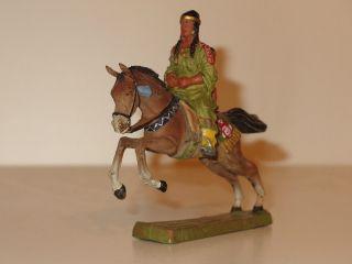 Indianerin Zu Pferd Mit Kind - Wildwest Spielzeug - Bild