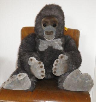 Steiff Großer Affe Gora Gorilla Orang Utan Mit Knopf Fahne 0540/60 0540 60 Bild