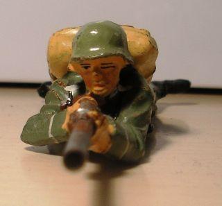 Elastolin Bellum Soldat Liegend Schiessend - Sehr Schöner Bild