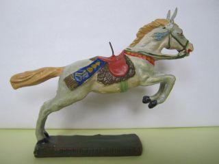 Schönes Elastolin Masse Indianer Pferd Springend,  Serie 7 Cm. Bild