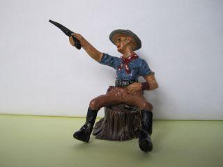 Elastolin Masse Cowboy Reiter Mit Revolver Schießend,  Serie 7 Cm. Bild