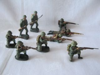 Infanterie / Stoßtrupp Um 1939 Elastolin 7 Cm Bild