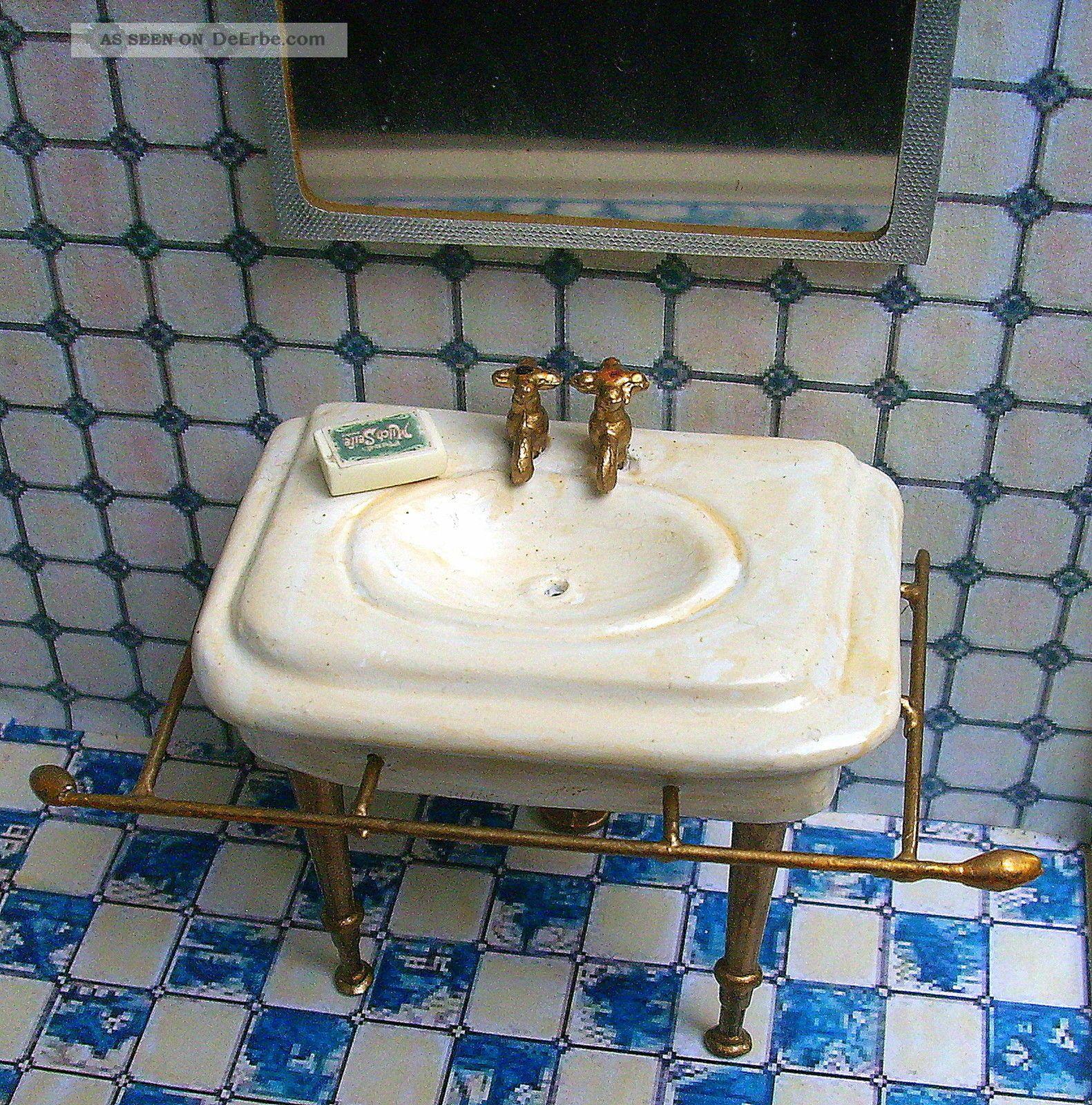 dekoratives nostalgisches waschbecken badezimmer puppenstube, Badezimmer ideen