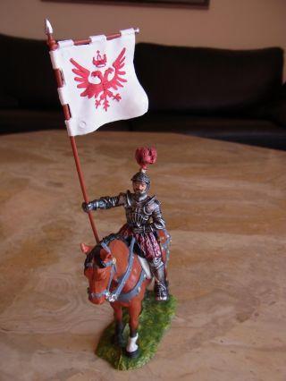 Preiser/elastolin - Landsknechte - Herold Zu Pferd,  Mit Banner Bild