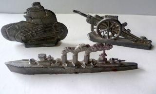 Kanone 8 Cm,  Kriegsschiff 11 Cm,  Panzer 6,  5 Cm,  Denke Aus Blei Vor 1945 (20) Bild