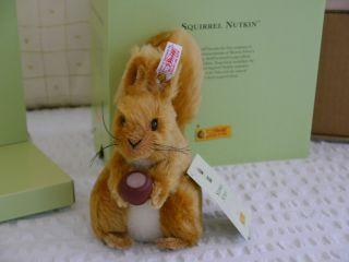 Steiff Eichhörnchen Nusper - Squirrel Nutkin Von 2004,  Limitiert - Bild