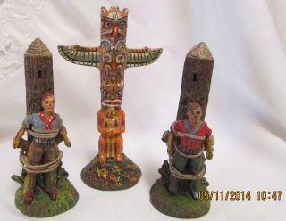 Konvolut Von 15 Wildwestfiguren,  Z.  B.  Indianer,  Marterpfähle Usw. Bild