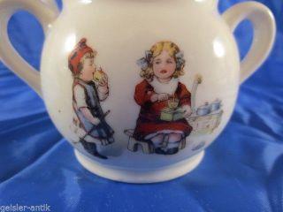 Uraltes Puppenservice Um 1920 Niedliche Kinder Mit Puppenherd Kaffeemühle Bild