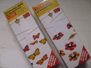 Rar: 2 Alte Steiff Mobiles Mit Antriebskreisel,  Unben.  Ovp,  Blüten,  Schmetterlinge Bild