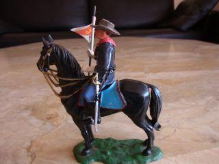 Preiser/elastolin - Us - Regierungstruppen - Soldat Zu Pferd,  Mit Fahne Bild