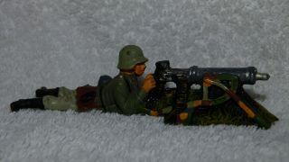 Elastolin Hausser Soldat Liegend Am Maschinengewehr Bild