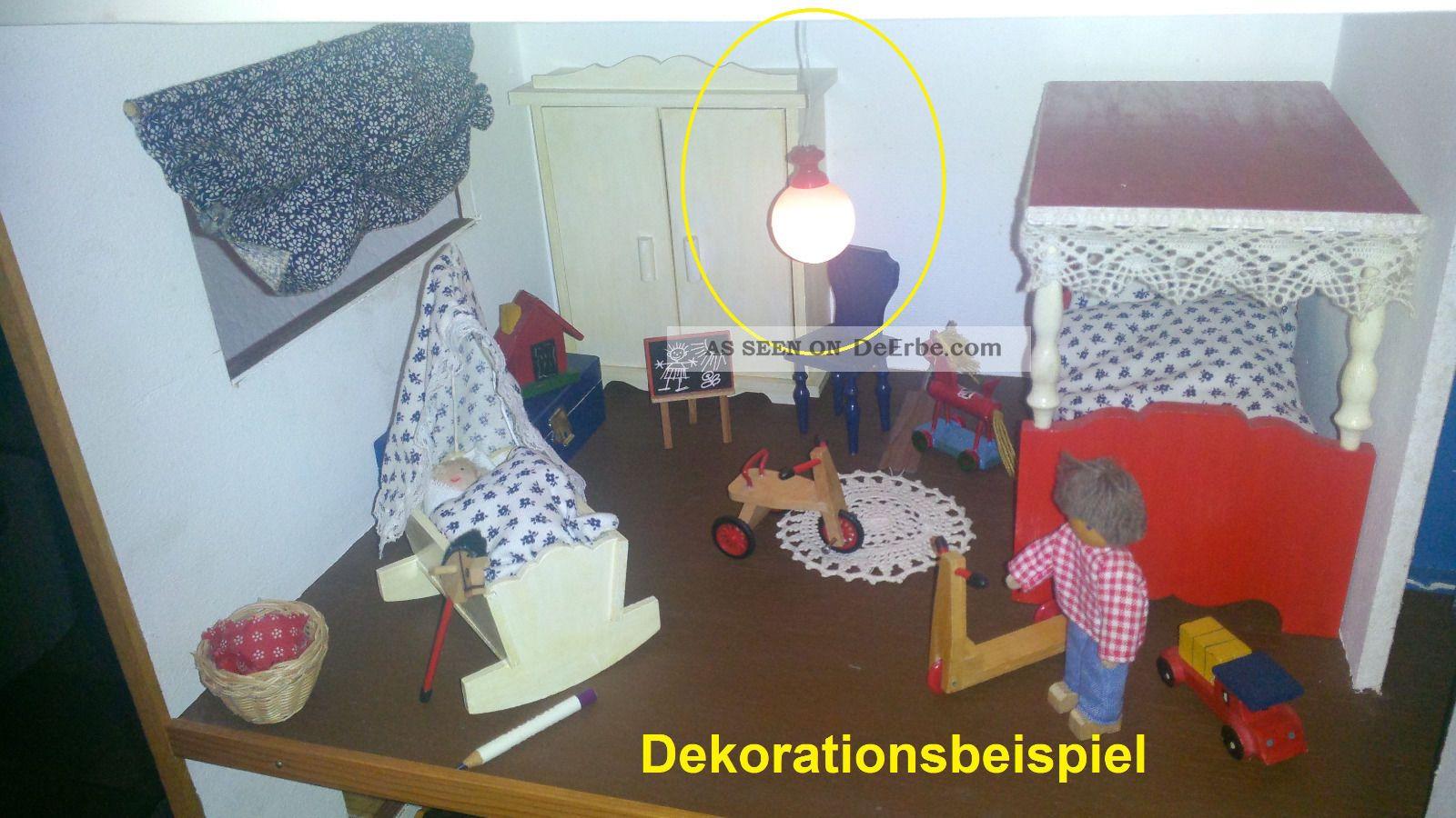 Komplettes kinderzimmer f r puppenstube mit spielzeug for Kinderzimmer 70er