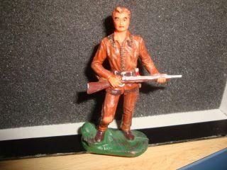 1 Seltene Elastolin,  Lineol,  Hausser Western Figur,  Old Shatterhand,  Top Rar,  8 Cm Bild