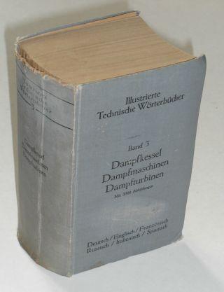 Illustrierte Technische Wörterbücher Bd 3 Dampfkessel Dampfmaschine Dampfturbine Bild