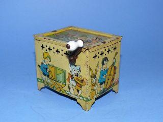 RaritÄt Blechspielzeug Spielzeug Uralte Kinderdrehorgel,  Leierkasten,  Spieluhr Bild