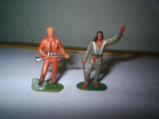 Winnetou Und Old Shatterhand Plus Marterphal,  Karl May,  Hausser ? 4 Cm Bild
