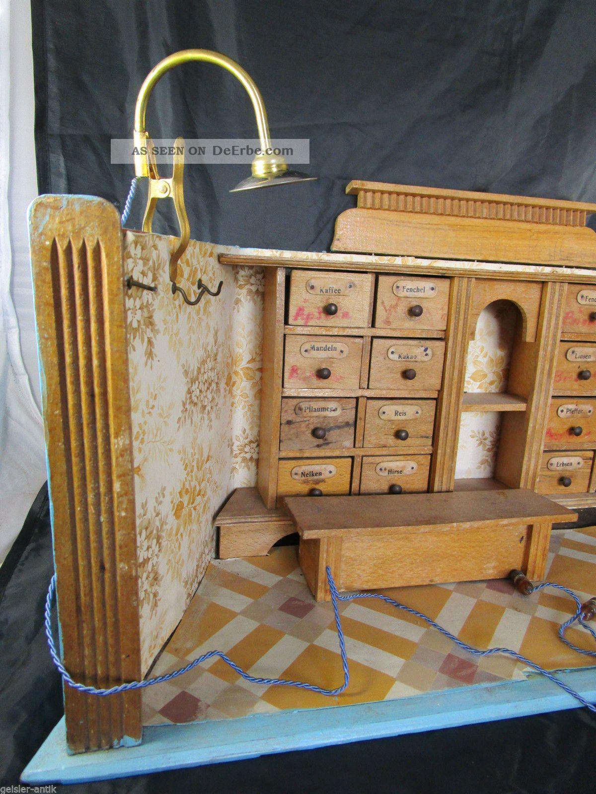 Wohnzimmerschrank Um 1950 Antikspielzeug Puppen Zubehr Puppenstubenzubehr Original