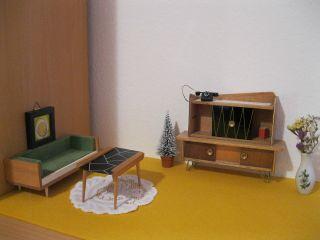 Für Alte Stube Wohnzimmer Von Ems Niedersaida 50er 60er Mit Holz Telefon,  Bild Bild