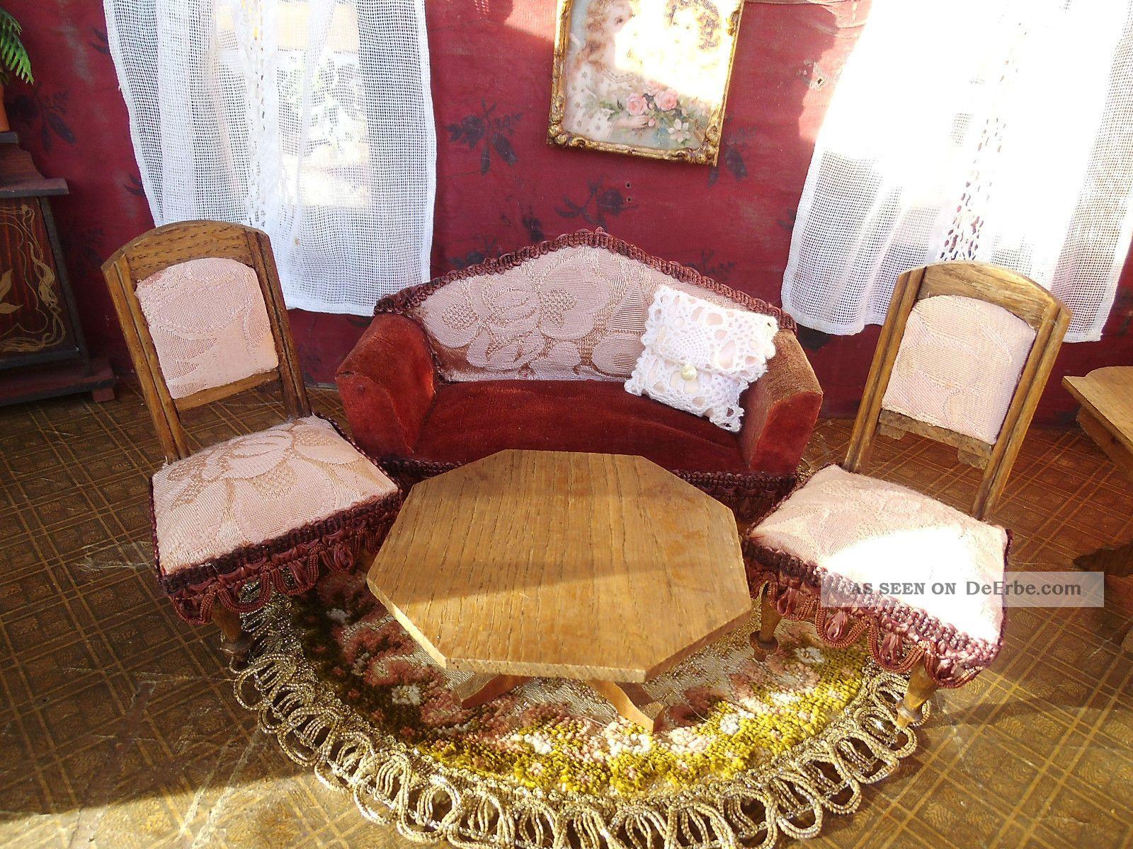 antike jugendstil sitzgarnitur um 1900. Black Bedroom Furniture Sets. Home Design Ideas