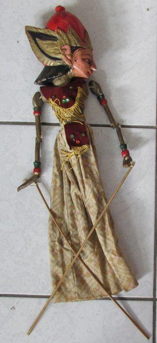 Alte Marionette Indonesien Thailand ? Holz Alter ? Ca.  54 Cm Bild