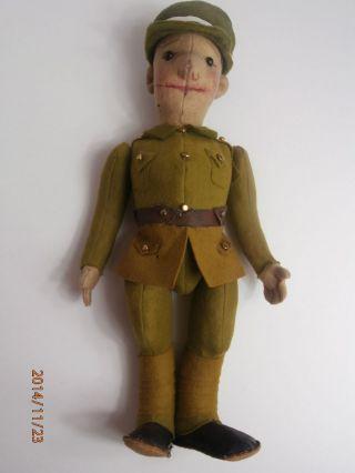 Musealer Antiker Steiff Soldat Um 1910 Ca.  35 Cm - Sehr Selten Bild