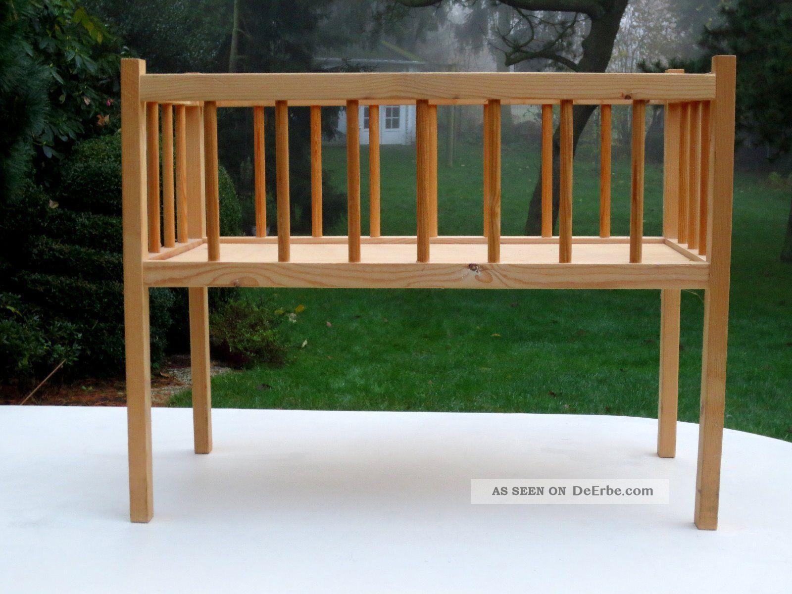stabiles grosses puppenbett holz 64 x 33 x 50cm. Black Bedroom Furniture Sets. Home Design Ideas